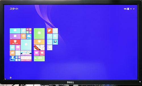 デル製27型ウルトラHDモニター P2715Qでの4K液晶(3840×2160ドット)表示。<br />HD液晶(1366×768ドット)より4倍の広い画面。