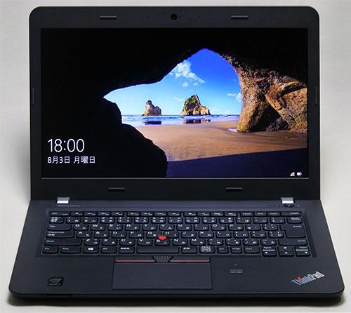 ThinkPad E450 Windows 10のオープニング画面。