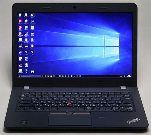ThinkPad E450★<br />カスタマイズ選択可能な高解像度フルHD(1920×1080)液晶パネルは、IPS対応ではなく色の再現性もX1 Carbonと比べると劣りますが日々のパソコン作業には問題なく使用できます。画面はWindows 10にアップグレードしたスタート画面。