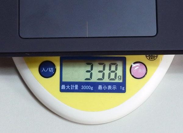 専用キーボード重量338g。(X1 Tabletは249g)