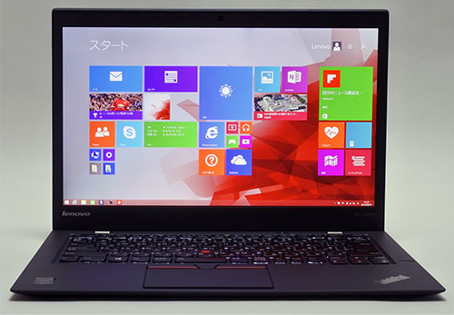 ThinkPad X1 Carbon★ <br />超高解像度14.0型 WQHD IPS液晶 (2560x1440)液晶パネルは、広視野角と色の再現性も良い。