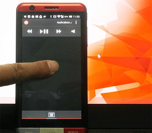 スマホの画面がパソコンのタッチパッドになります。