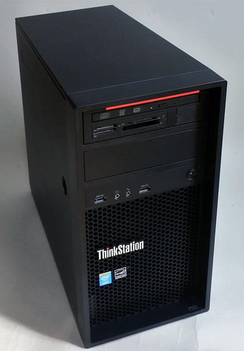 ThinkStation P300 Tower本体サイズ(幅×奥行×高さ)mm 175 x442 x 415mmの小型ケース。