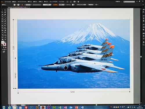 Illustratorのアートボードで5000mm×5000mmの広大な作業領域での高解像度画像を貼り付けて、インクジェット出力用データの作成。