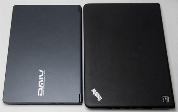 左がDAIV-NG4300、右がThinkPad E450。
