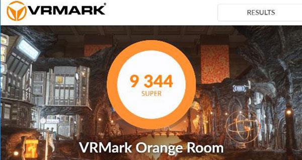 VR対応のGTX1080によるベンチマークソフトVRMARKでのスコア9344を記録。