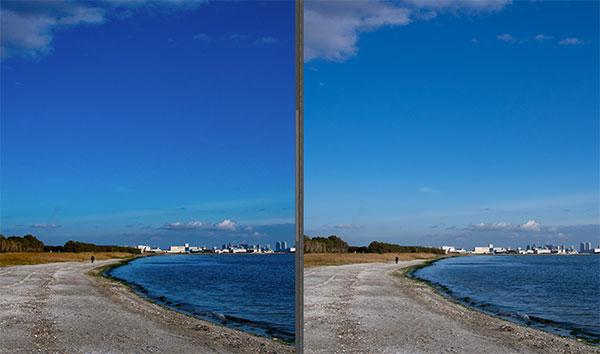 4K液晶モニターによるDAIV-NG7630と外付けモニターとの色域表示のイメージ画像。