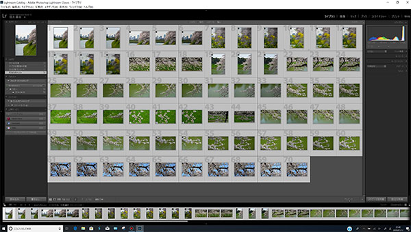 25.9M×70枚(1.8GB)のRAWデータ(自動補正、350dpi光沢紙)の現像作業時間。