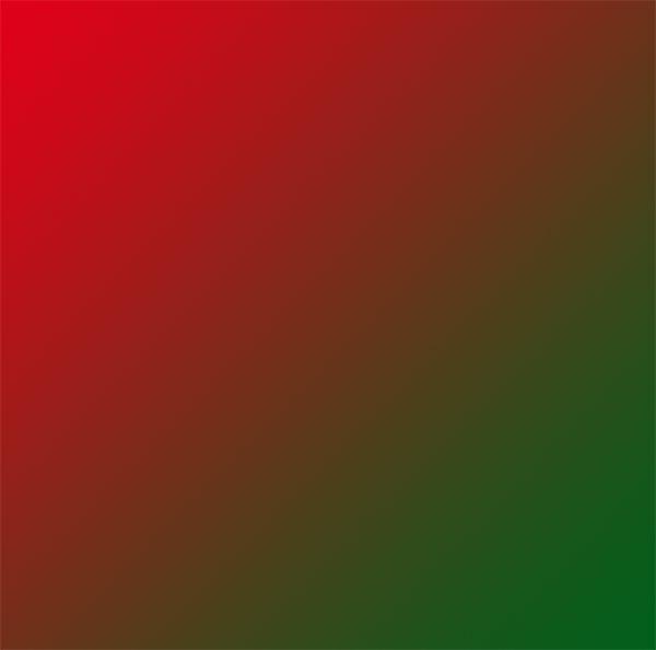 一般的な1677万色(8bit)のグラデーションカラー表示