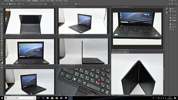 X280にインストールしたPhotoshop CCでこのレビュー用の画像を全て編集加工しました。