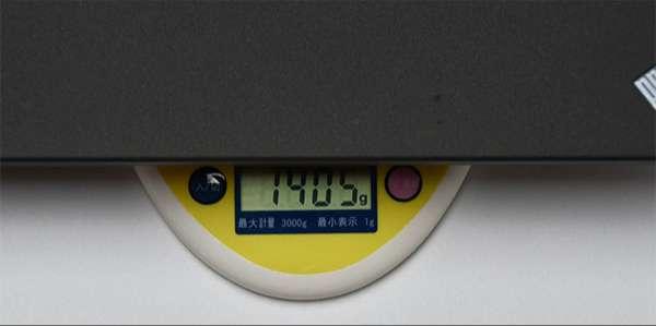 X270の重量実測1.405kg(仕様により重さは変わります。)