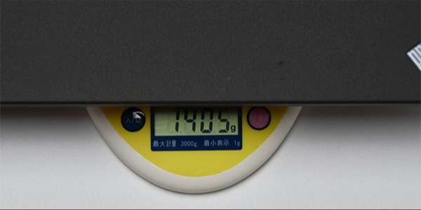 X270重量約1..405kg。(構成により重さは変わる)