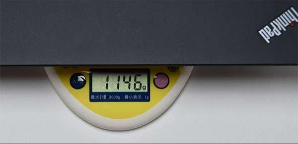 X280の重量実測1.146kg(仕様により重さは変わります。)