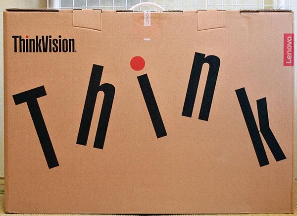 thinkの文字が大きく印刷されたパッケージ