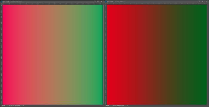 プロフェッショナルグラフィックスNVIDIA Quadro K2200とアドビPhotoshopCCによる10ビット (10億7,000万色)のグラデ表示
