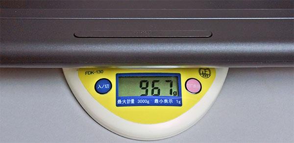 タブレット+プロダクティビティー・モジュール装着重量967g。