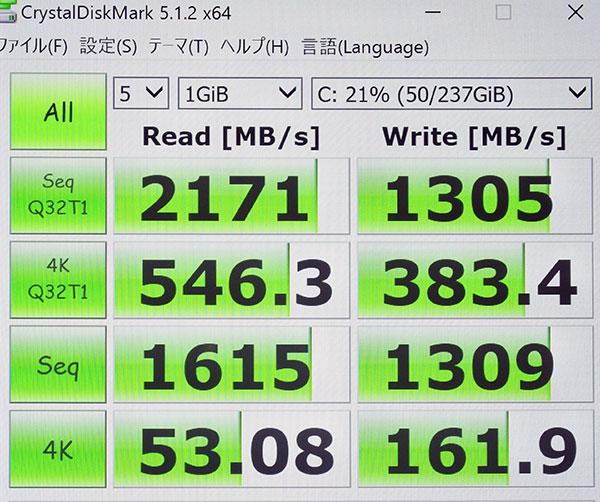 ThinkPad X1 Yogaも同じ規格のPCIe NVMe SSD256GBを搭載。