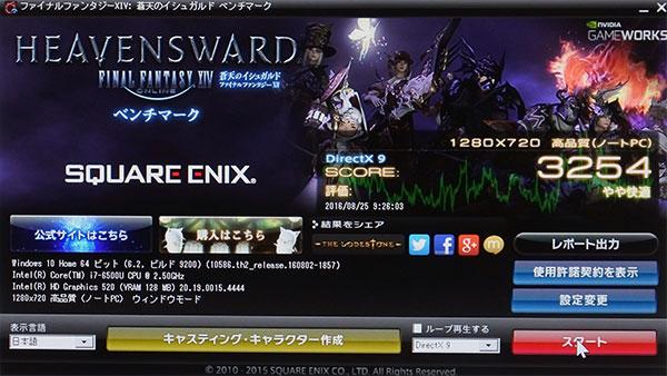 PCゲームの最新ファイナルファンタジーXIV: 蒼天のイシュガルド ベンチマークスコア。