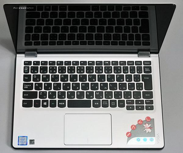 6列のキーボード。