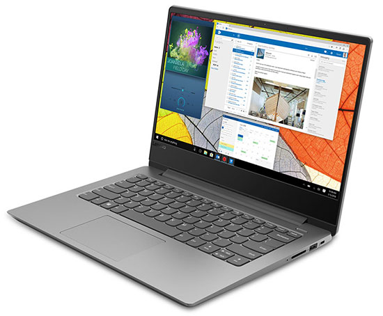 Lenovo Ideapad 330S  laptop, front left angle view