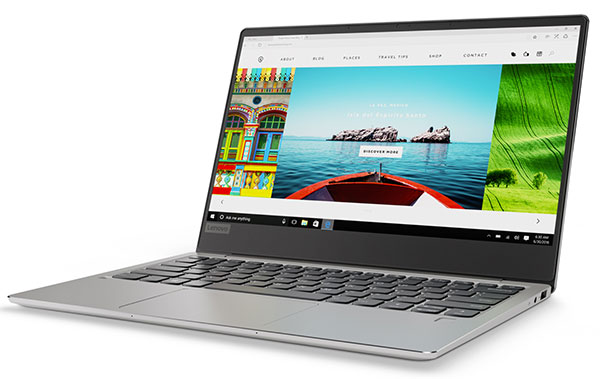 Lenovo Ideapad 720S (13, AMD) laptop, front left angle view