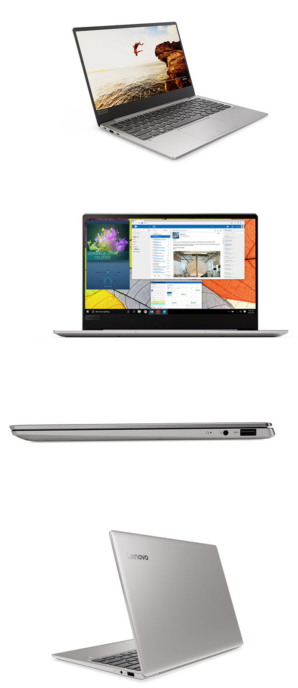 Lenovo Ideapad 720S (13, AMD) laptop, front left angle view